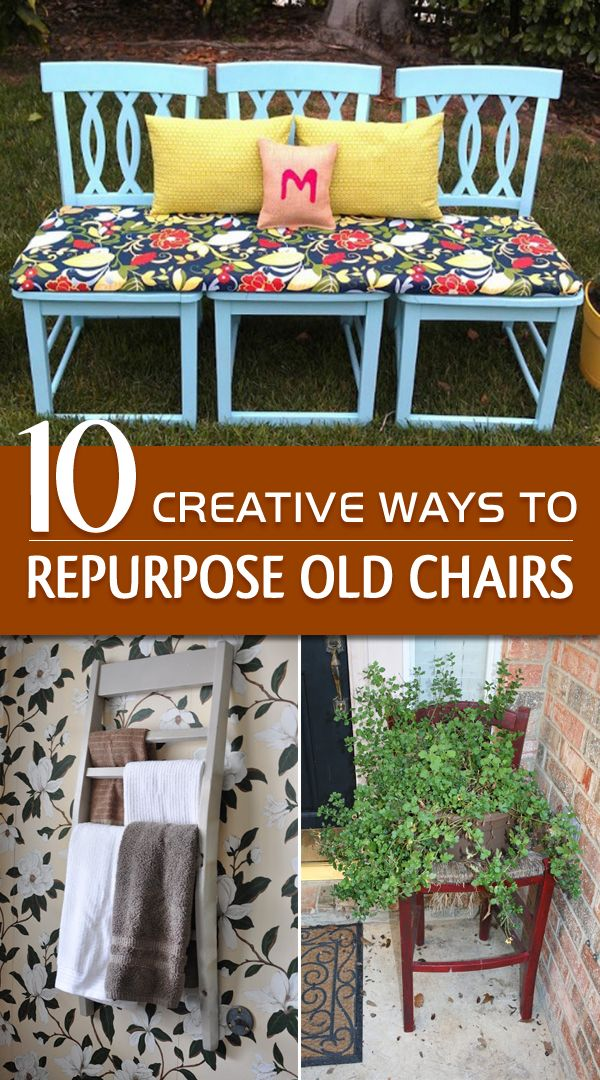 10 of the best ways to upcycle those wooden chairs and transforming them into unique and practical furniture for your home and garden.