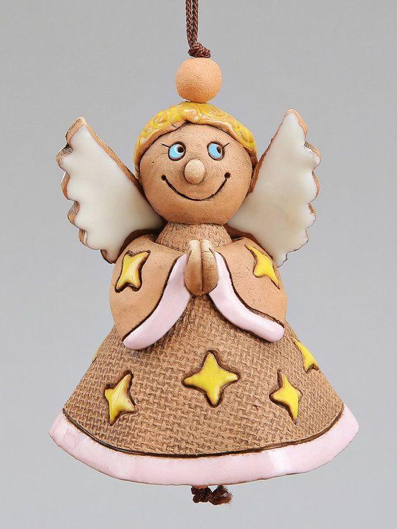 Cloche en céramique: sorcière ange Mobile bébé