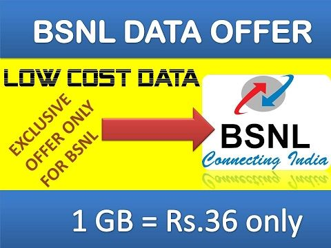 BSNL Offering 1GB Data at Rs: 36 from 6th FEB 2017 : 3G , 4G DATA : 8 GB...