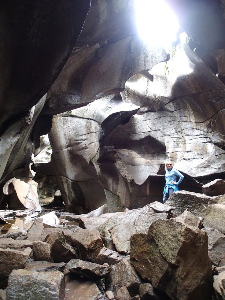The Grottos (also known as the Ice Caves) east of Aspen, Colorado