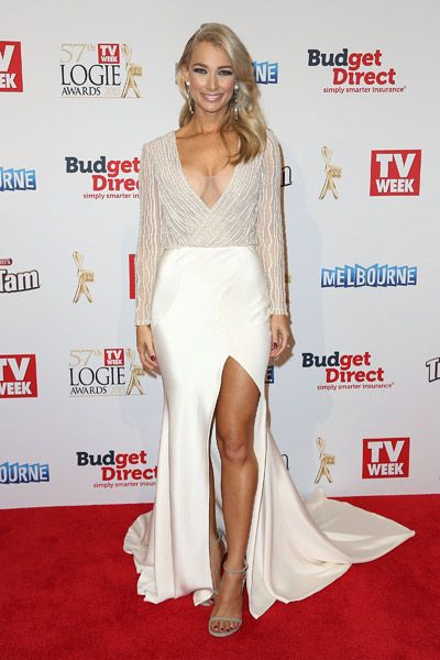 Anna Heinrich in Pallas Couture at the 2015 Logie Awards.