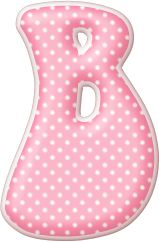 Oh my Alfabetos!: Alfabeto rosa con lunares blancos.