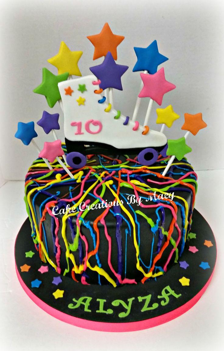 Neon Splatter Cake