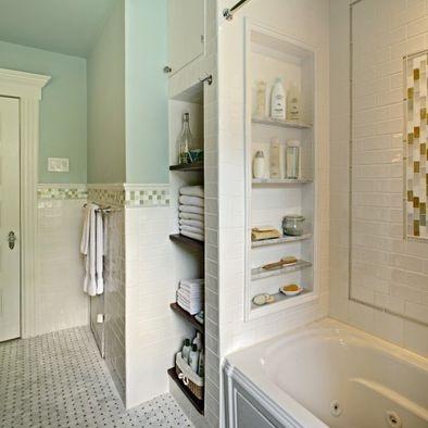shower storage - much better than sitting stuff on the edges