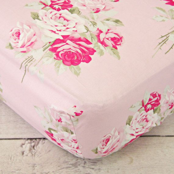 Mix and Match our shabby chic pink floral crib sheets with any of your favorite bedding basics! Our crib sheets fit all standard crib