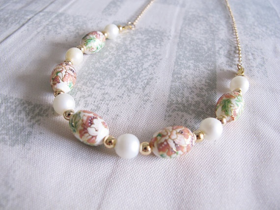 Oriental Lilies Long Necklace