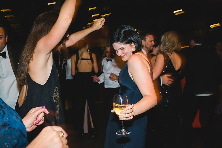 Guests dancing at Clair & Angus' Stones of the Yarra Valley wedding reception.