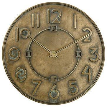 Frank Lloyd Wright Exhibition Wall Clock - transitional - Wall Clocks - Expressions of Time, LLC
