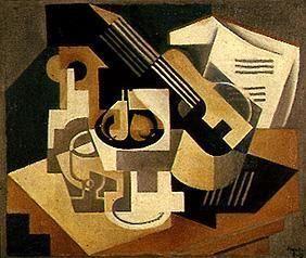 Guitar and Compote  Artista: Juan Gris Período: Cubismo Fecha de creación: 1921