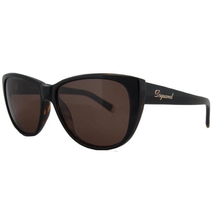 DSquared DQ 0080 05B Dark Havana Wayfarer Full Rim Sunglasses