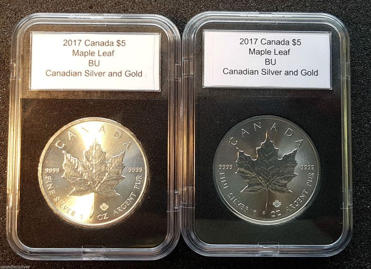 Lot of Two 2017 1 oz Silver $5 Canadian Maple Leaf in a Plastic Archival Slabs | eBay
