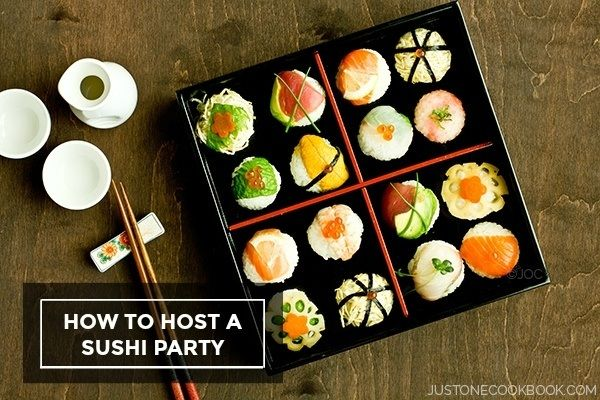 How To Host a Sushi Party - other wrappers are now popular including rice paper | Easy Japanese Recipes at JustOneCookbook.com