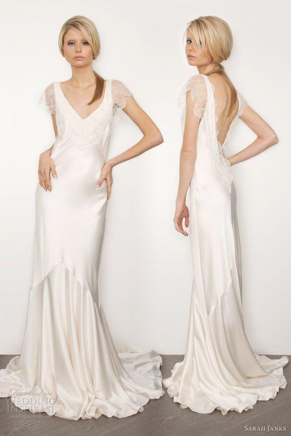 WoW!!!  sarah janks 2013 bridal couture belinda silk sheath wedding dress sleeves