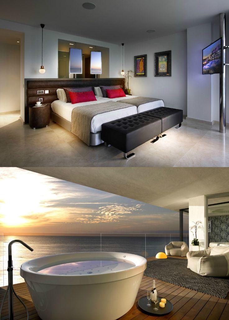 Hard Rock Hotel Ibiza | Design Hotel | Spain | http://lifestylehotels.net/en/hard-rock-hotel-ibiza | Great View | Room | Whirlpool