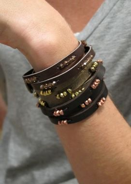 Unisex Leather Bracelet Tutorials - The Beading Gem's Journal