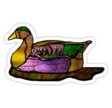 Resting Duck Sticker by StickerNuts