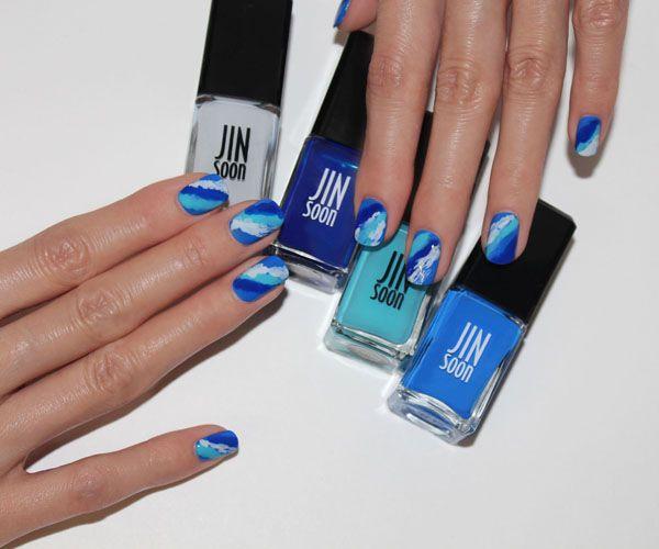 Wave nail art: http://beautyeditor.ca/2014/08/18/wave-nail-art-tutorial/