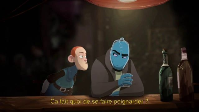 school exercice with the 3d character from fol'amor, one of the graduation movie from les gobelins.  sound : hot fuzz, probably one of the best movie of all time