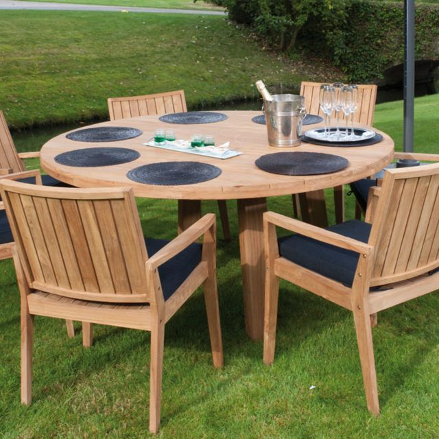 table de jardin aluminium et verre blanc | mobilier terrasse ...