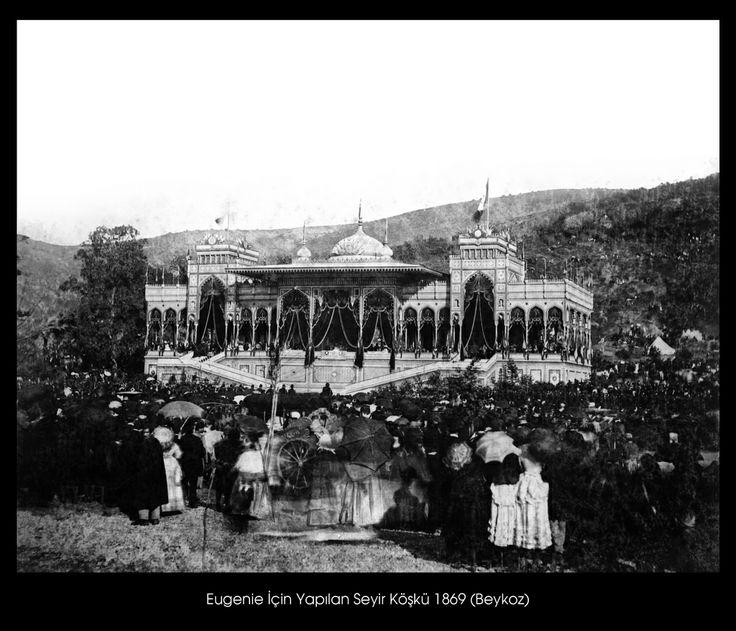 İstanbul-Yıldız Albümleri, Fransa İmparatoriçesi Eugenie için yaptırılan Seyir Köşkü (1869) Beykoz
