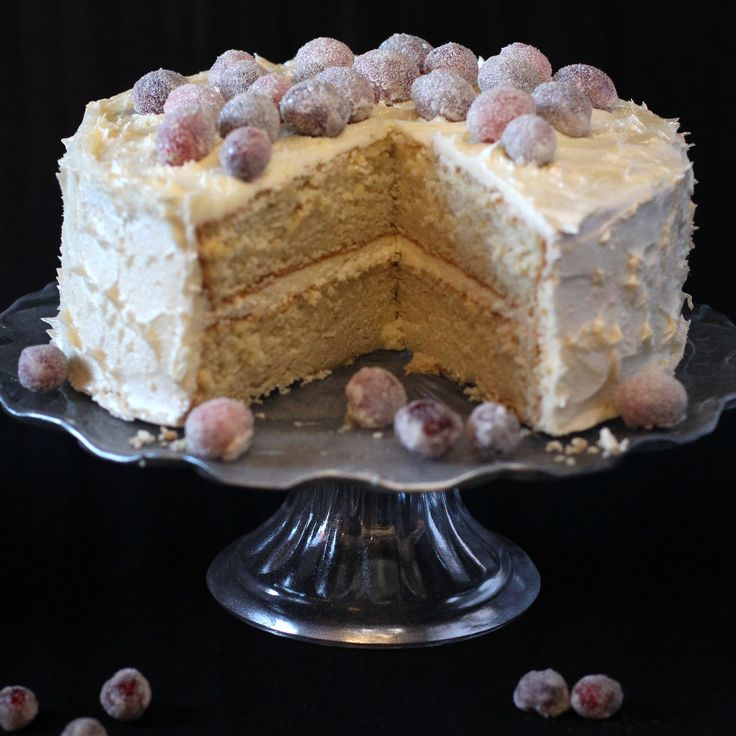 This alternative Snowy White Christmas Cake Recipe uses egg whites only to create a lighter colour and textured cake.
