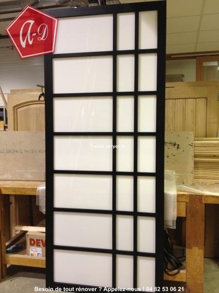 17 best images about cloison japonaise coulissante et porte on pinterest promotion cabinets - Installer porte coulissante dans cloison ...