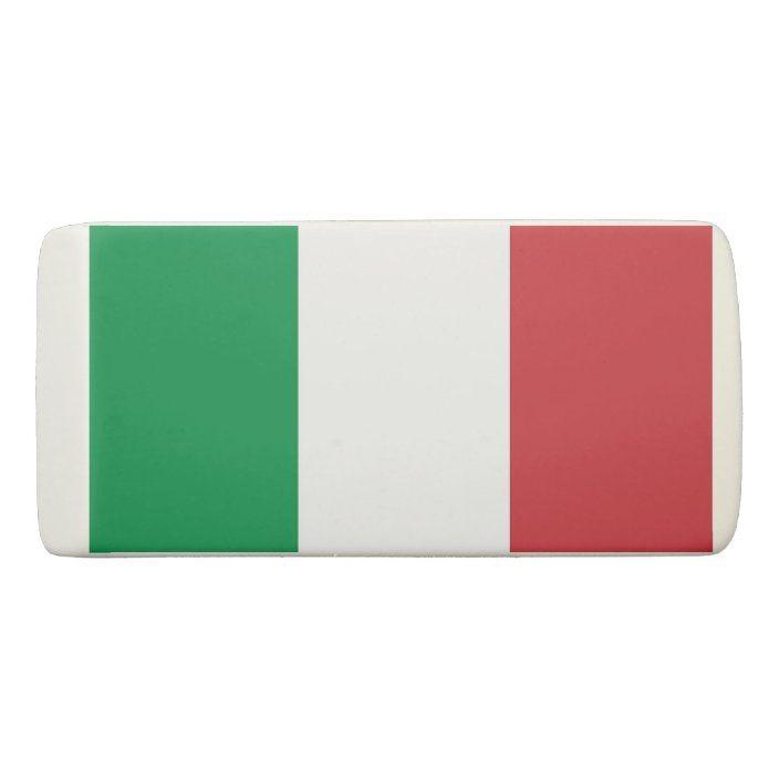 Italy Italian Italia Flag Rhodium Plated Silver Cufflinks