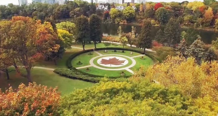 Watch this stunning aerial video of Toronto's High Park in the fall.