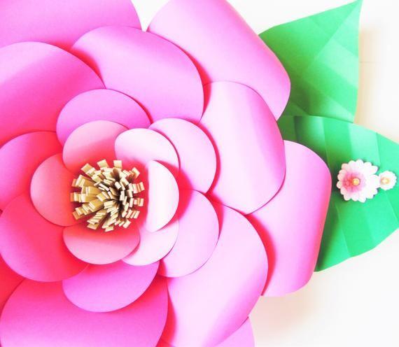 Easy Large Paper Flowers, PDF Printable Templates, Giant Paper Flower Patterns & Tutorials, Set of 4 Flower Patterns – arranjo para púlpitos