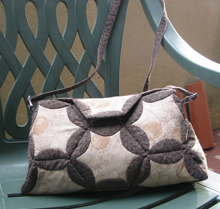 Folded Hexagon bag #fabricbag #hexagons
