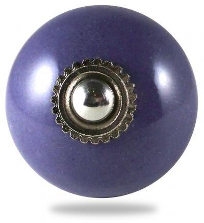 Bouton de meuble et poign�e de meuble pour porte et tiroir, pat�res, violet, boule, uni