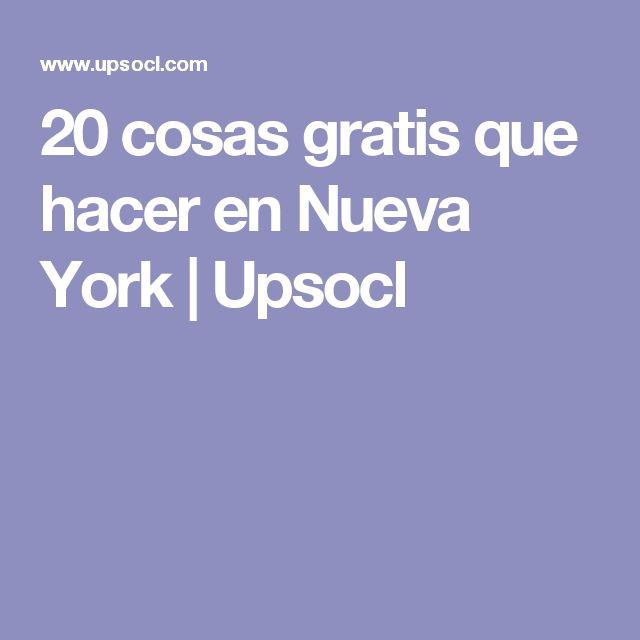 20 cosas gratis que hacer en Nueva York   Upsocl