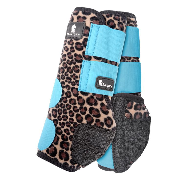Classic Equine Legacy System Cheetah Print Front Boot