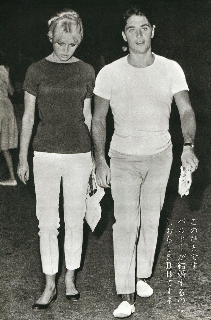 Brigitte Bardot & her boyfriend Sacha Distel, 1958