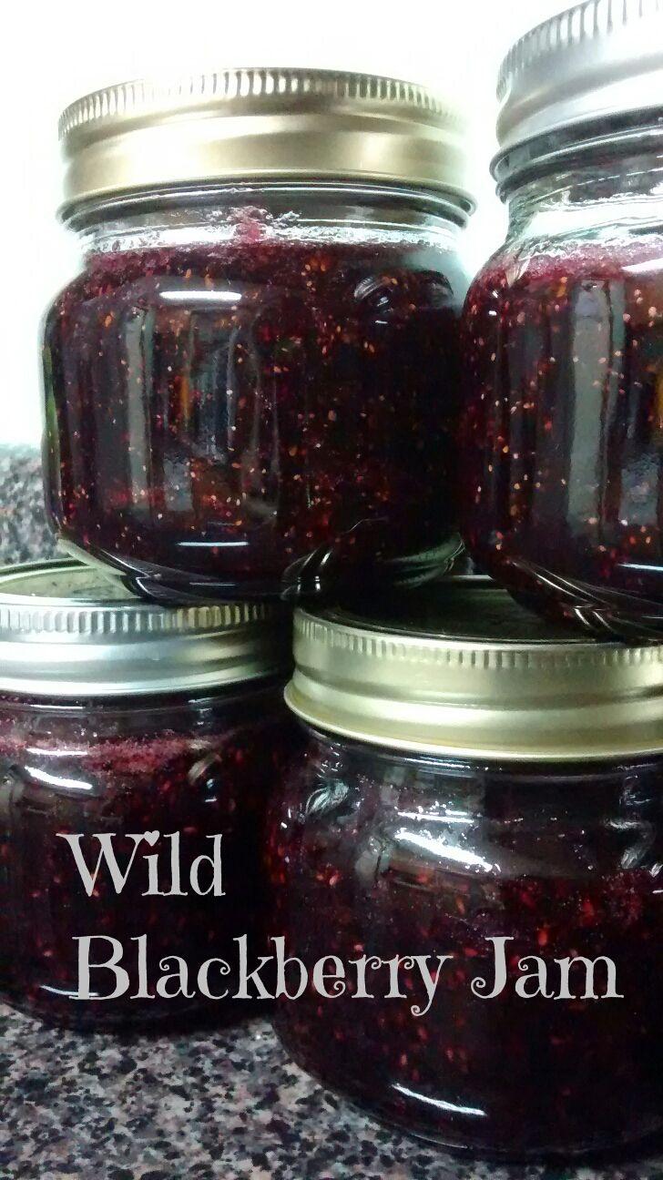 Easy Wild Blackberry Jam – Pectin Free – via Homestead Heroine