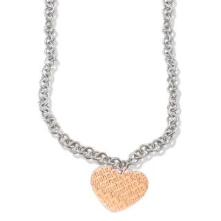 Collana in argento 925 rodiato con cuore pendente sul quale è inciso il tuo nome. € 88 - Silver Necklace with Herat Customizable with your name by Flores Gioielli Personal Jewels