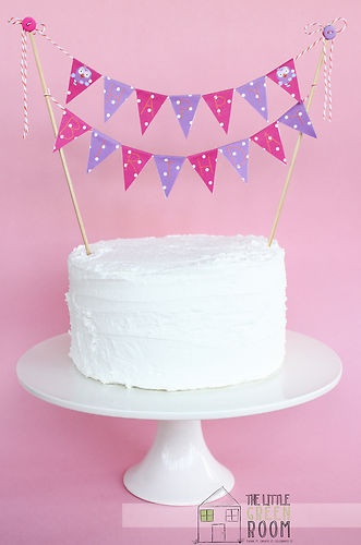 "Easy to make: Giggle And Hoot "" Hootabelle "" Happy Birthday 2 String Bunting Flag Cake Banner"