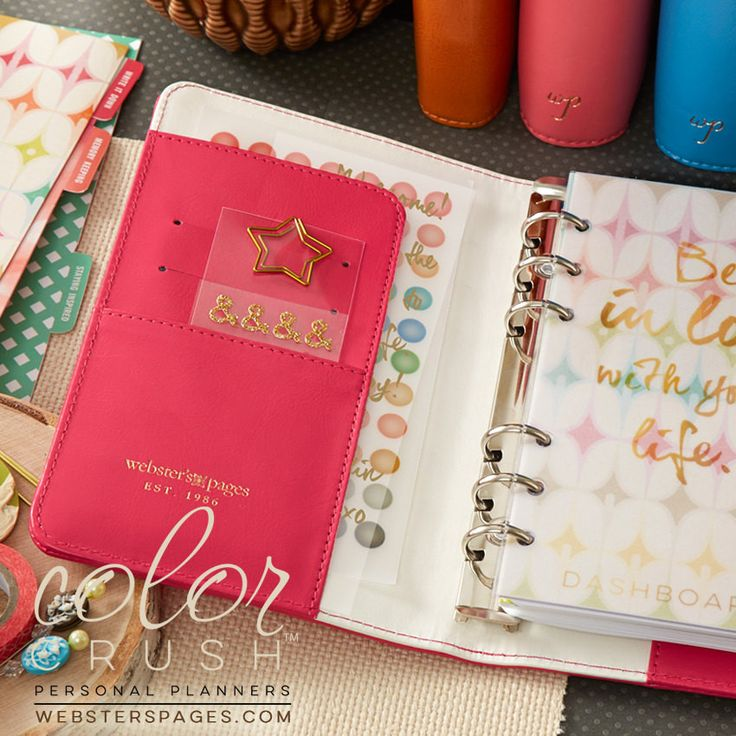 Personal Dark Pink Planner Kit Webster's Pages Color Crush • FREE WASHI TAPE