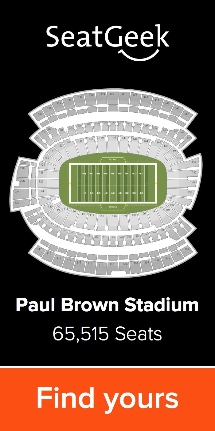 The best deals for Bengals tickets are on SeatGeek!