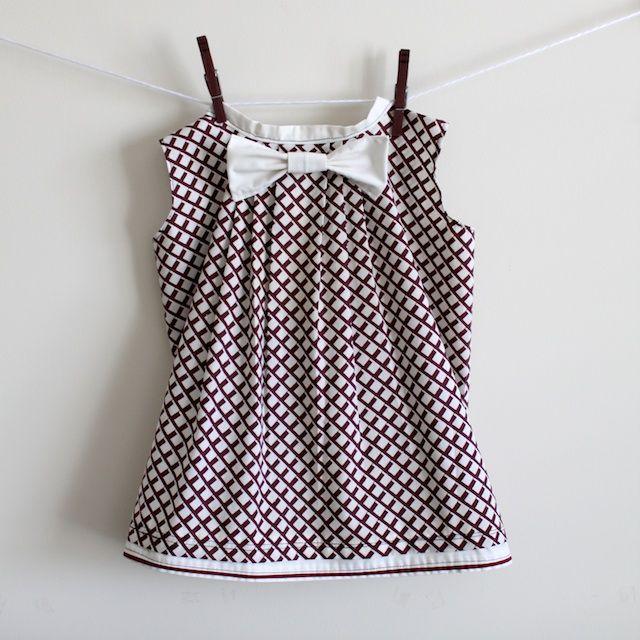 pleated bow pillowcase dress tutorial