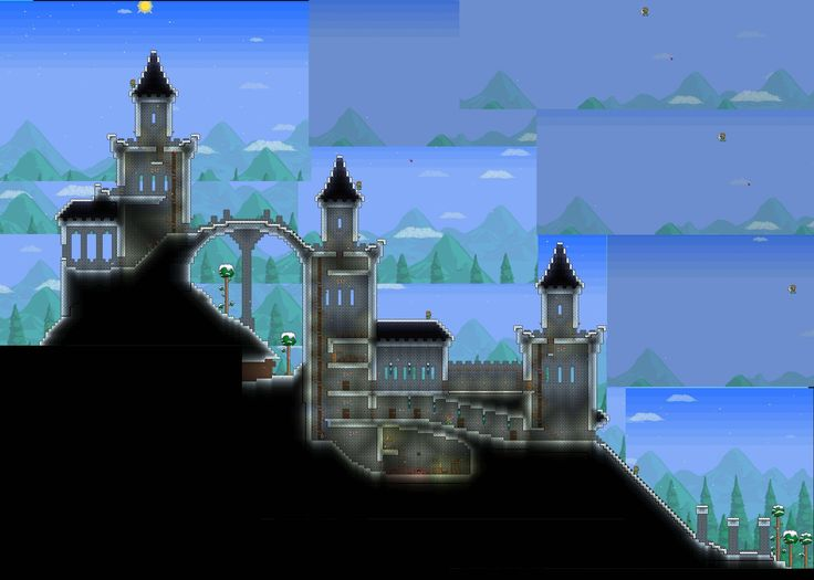 Castle or prison terraria terraria minecraft for How to build a castle home