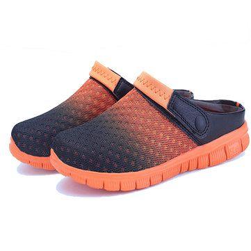 US Size 6.5-10 Summer Men Mesh Beach Outdoor Slip On Comfortable Flats Sandals Slipper Shoes