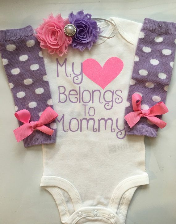 Baby Girl outfit  Newborn baby clothes  My heart by AboutASprout