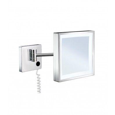 Smedbo Outline Kosmetikspiegel mit LED-Beleuchtung; quadratisch FK472E