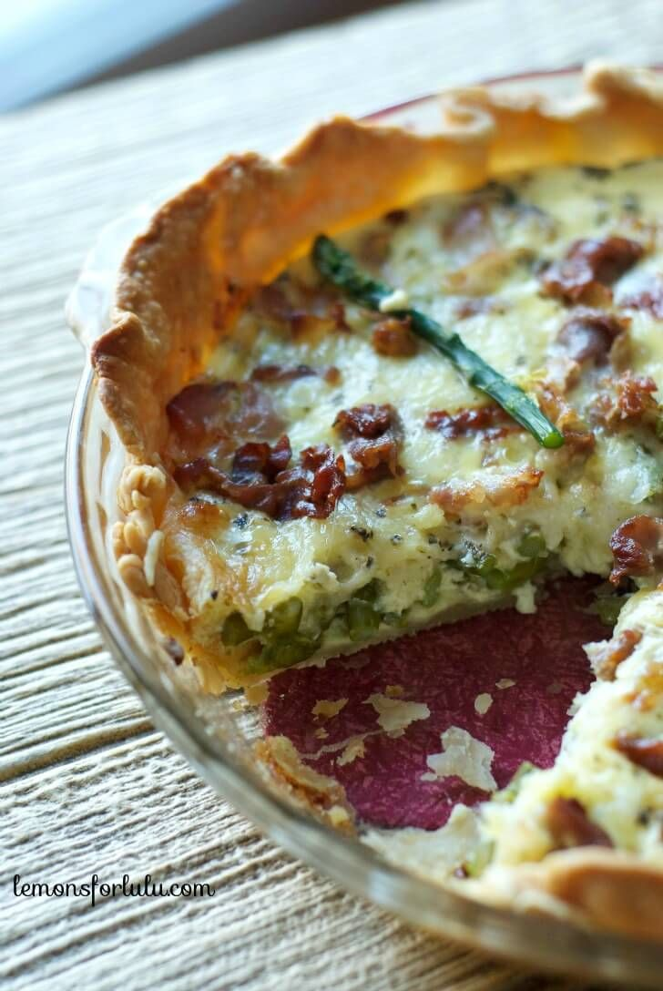 Perfect for spring! This quiche is made with asparagus, pancetta and ...