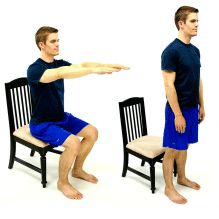 a simple 'sit to stand' is the number one exercise for