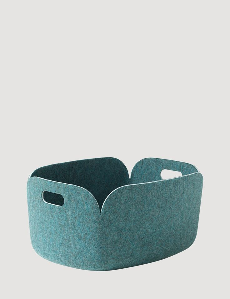 RESTORE's felt structure challenges traditional perceptions of functional storage baskets in a unique and understated way. The basket is mainly made from fibres extracted from recycled plastic bottles. RESTORE is an all-purpose versatile basket and is strong enough to be used for magazines, toys or even firewood.