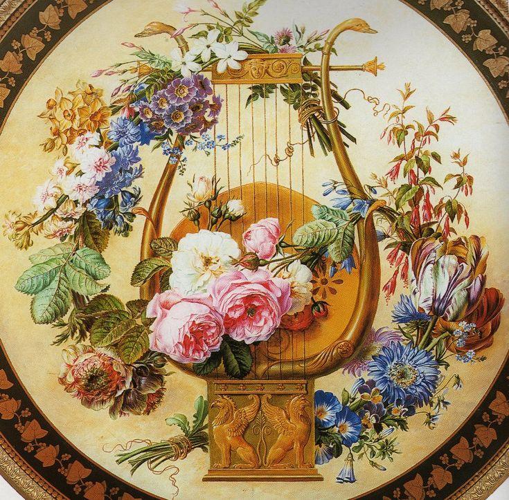 Painted Tabletop In Louis XVI Style