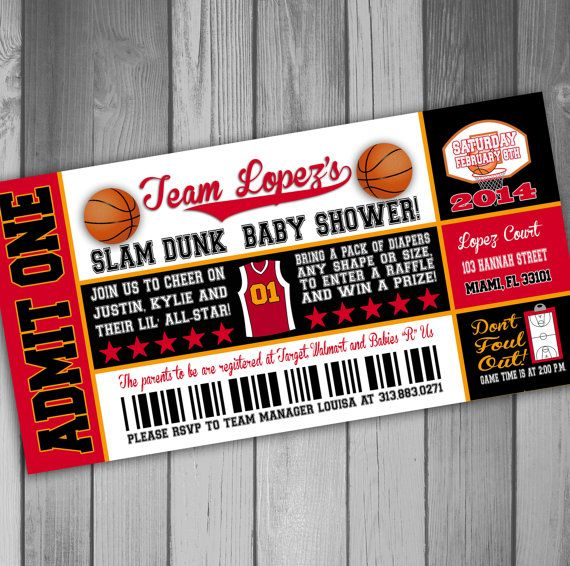 Miami Heat Inspired Baby Shower Invitation by CLaceyDesign on Etsy