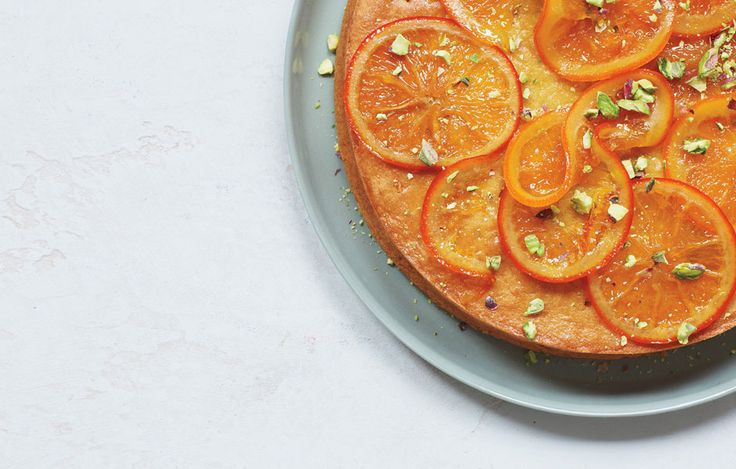 Olive oil cake with candied orange